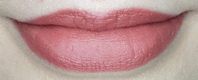 Avon True Colour Delicate Matte Lipstick lip swatch in Misty Mocha