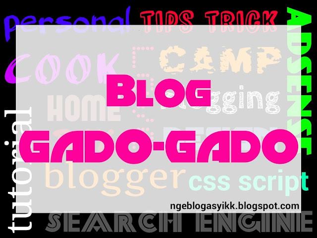 Contoh gambar blog gado gado