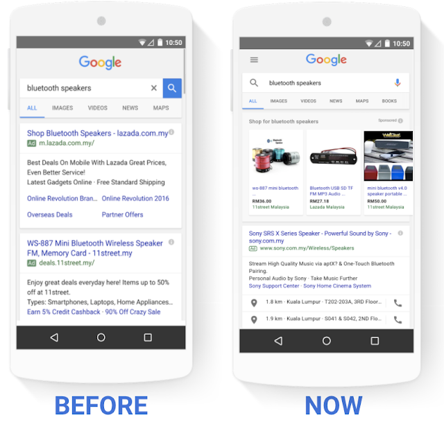 Google standard vs shopping ads