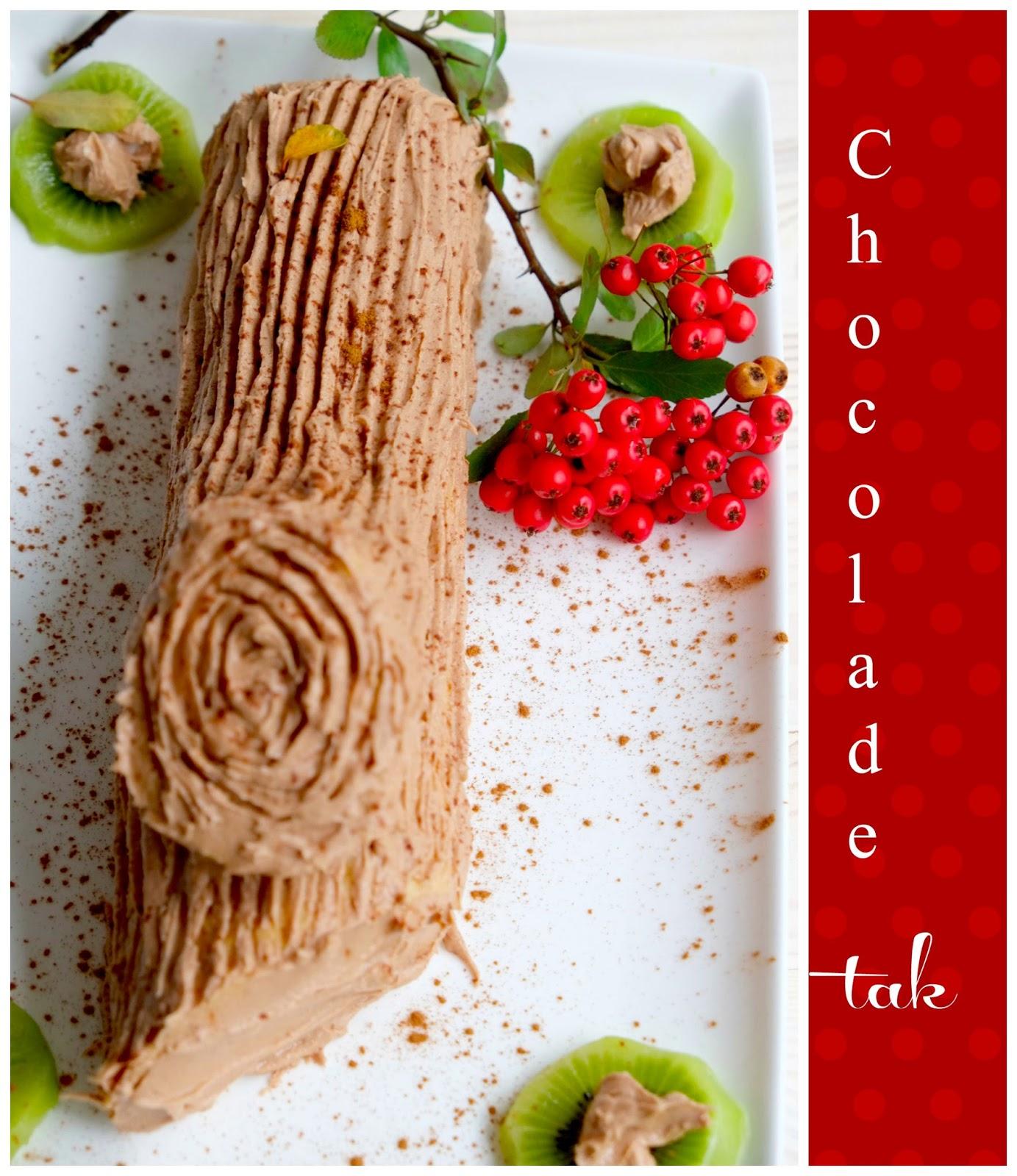 Chocolade tak/boomstam voor Kerst - Recept uit Portugal