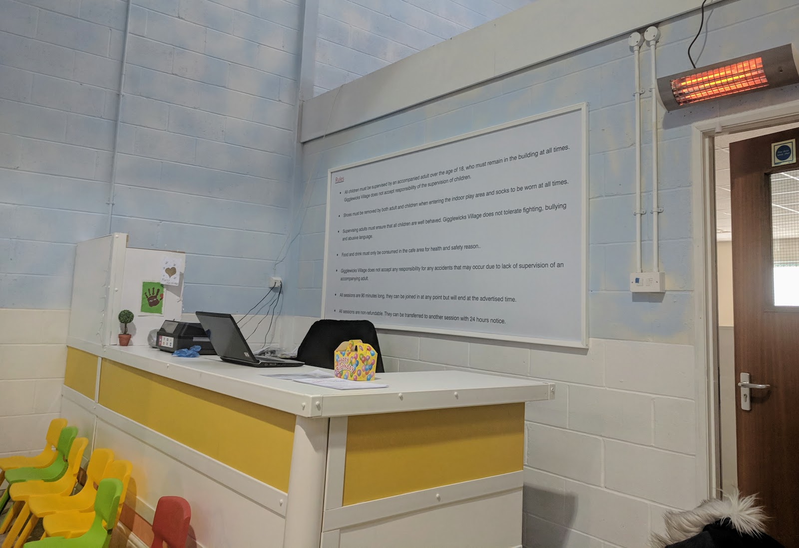 Gigglewicks Village Cramlington - welcome desk