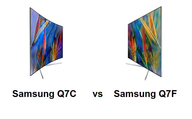 Difference Samsung QLED Q7F vs  Q7C - LED TV reviews