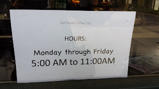 Rail Good Coffee hours Mon - Fri