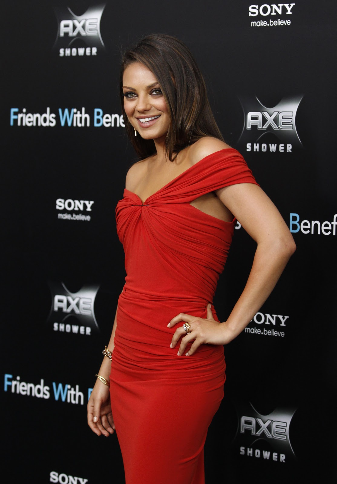 Mila Kunis in Red Dress - Styleofmedia