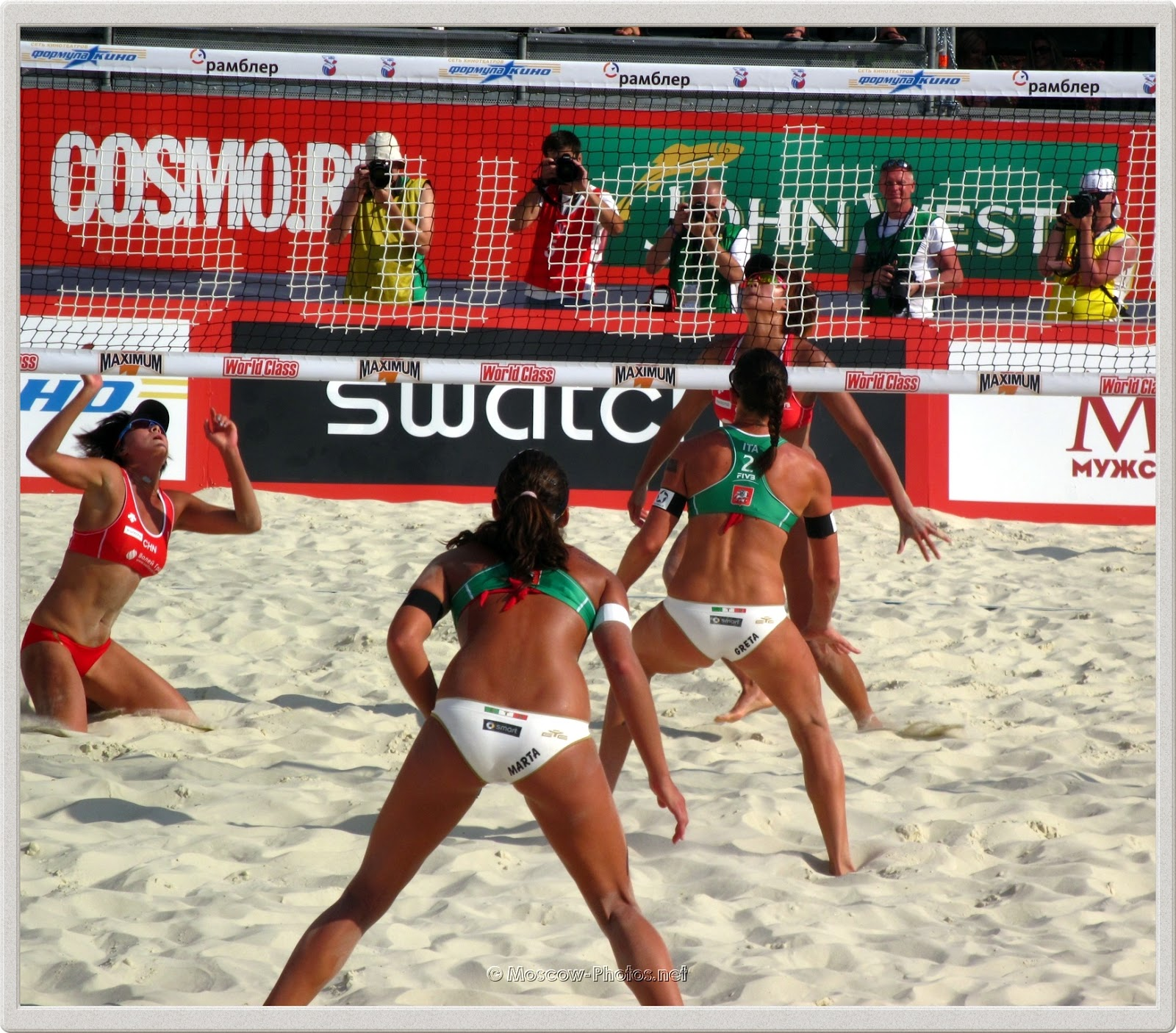 Defensife Formation of Italian Women's Beach Volleyball Team