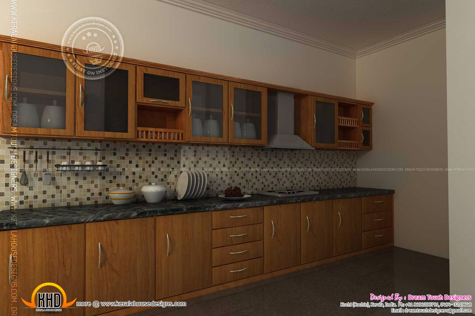 Kitchen design in kerala kerala home design and floor plans for Kitchen interior design india