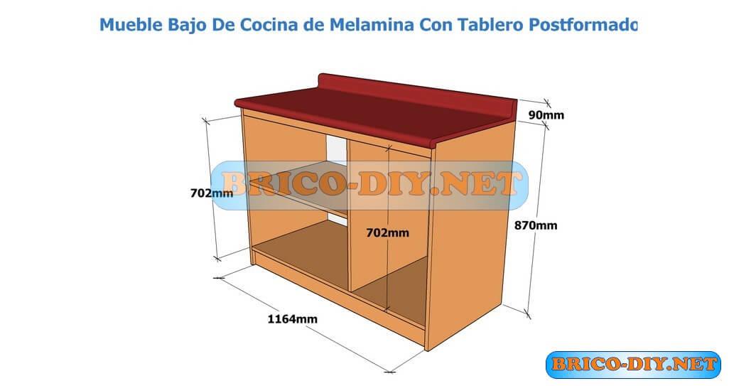 Muebles de cocina bajo mesada hazlo t mismo brico muebles for Modelos de zapateros en melamina