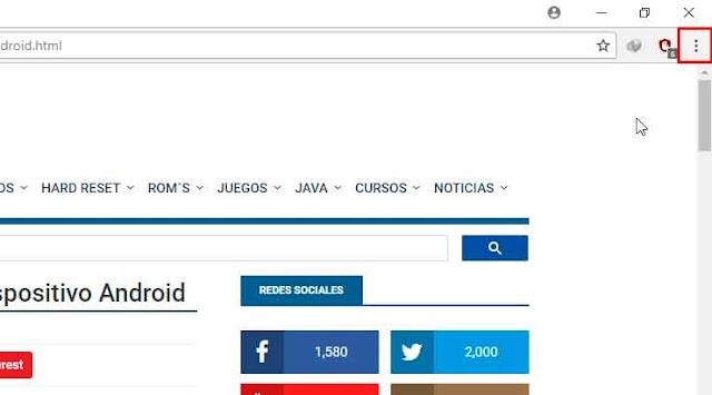 Acceder al menú de personalización de Google