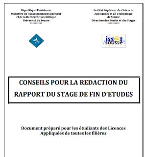 Conseils Pour La Redaction Du Rapport Du Stage