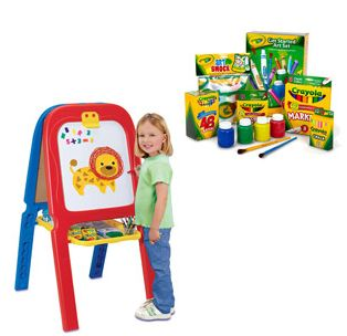 crayola 3 in 1 double easel with magnetic letters walmart crayola 3 in 1 easel accessories box 21223 | Crayola Easel