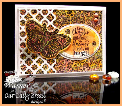 Our Daily Bread Designs Stamp sets: Boho Blessings, Boho Paisley Background, Our Daily Bread Designs Custom Dies: Fancy Fritillary, Stitched Ovals, Ovals, Boho Background