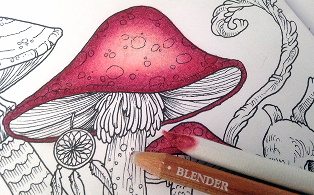 how to get a light pink in faber castell polychromos
