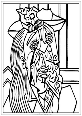 weeping woman printable art of pablo picasso coloring pages