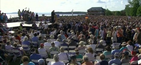 Senator Bernie Sanders at Waterfront Park, Burlington, Vermont
