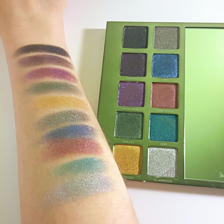 Urban Decay Heavy Metals Metallic Eyeshadow Palette swatches