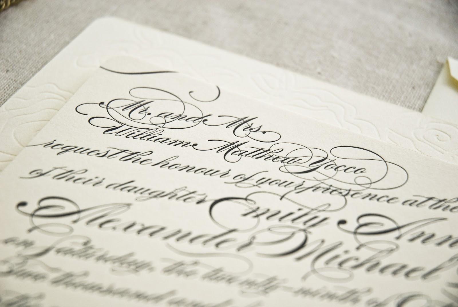 Calligraphy Wedding Invitations: Savannah Designer, Emily McCarthy : BLOG: Calligraphy