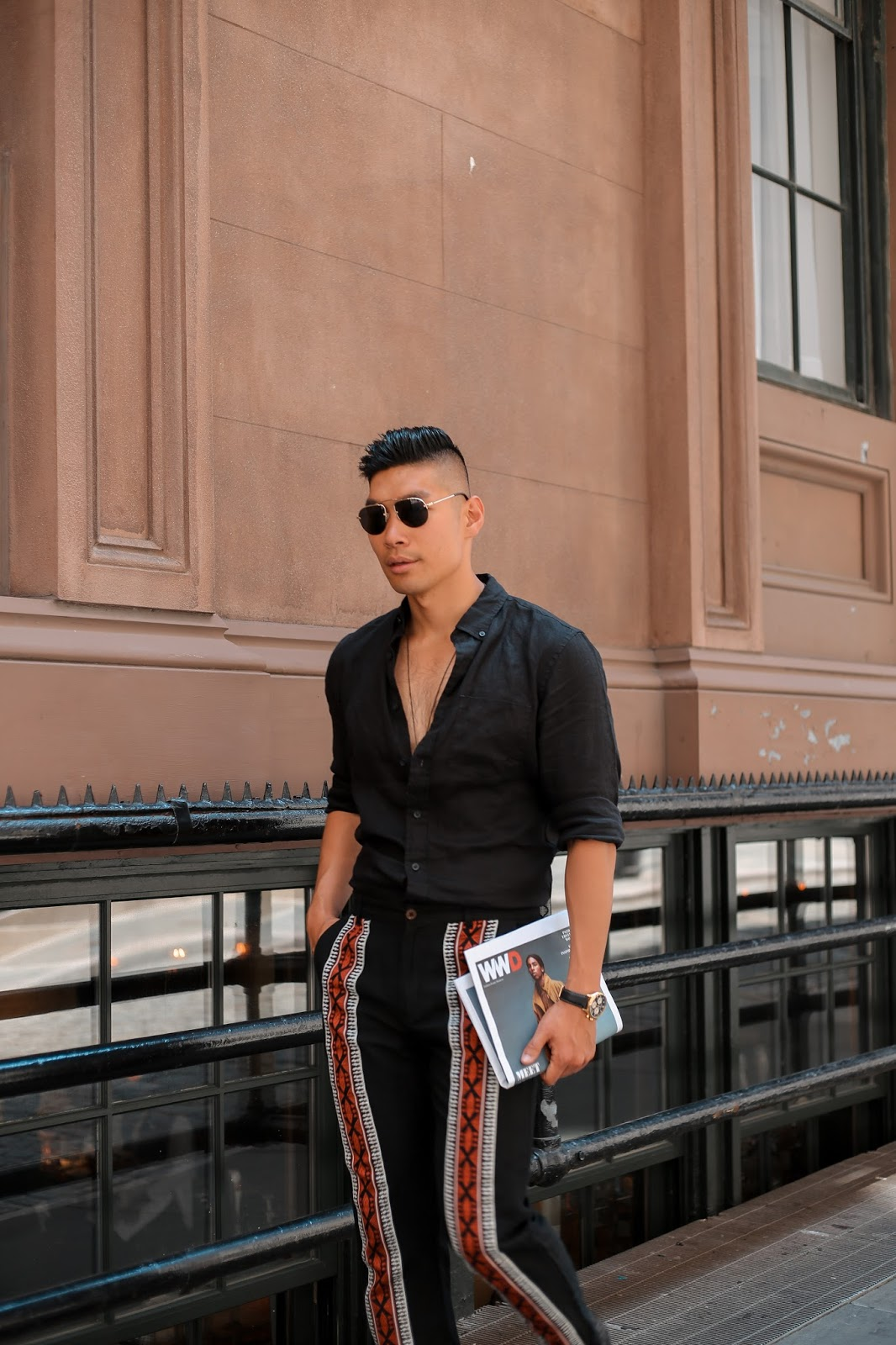 Men Summer Style, Prada Teddy Sunglasses, Leather Loafers, Movado, Menswear, Levitate Style, Leo Chan