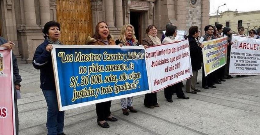 DEUDA SOCIAL: Hasta 30 mil soles cobrarán profesores cesantes y jubilados de la región Tacna [LISTA DE DOCENTES]