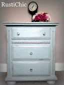 French Blue Nightstand