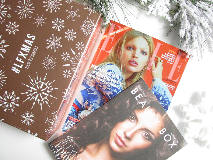 Unboxing: lookfantastic Beauty Box Dezember #LFXMAS ELLE UK