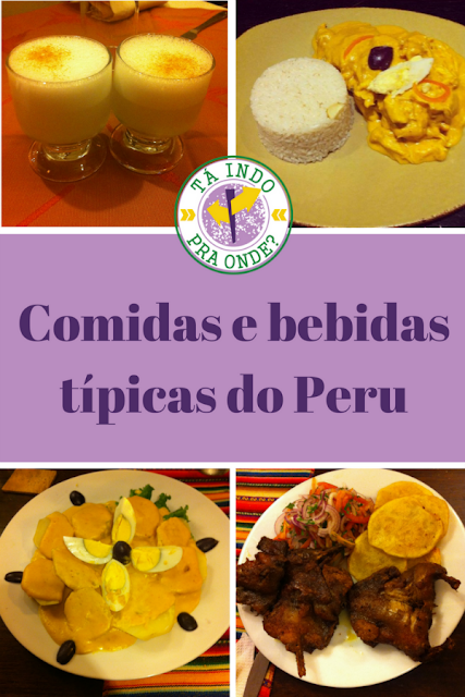 Comidas e bebidas típicas do Peru