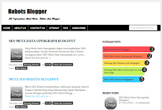 Two Columns Blogger Templates Clean Fast And SEO Friendly Blogger Template V.04.5