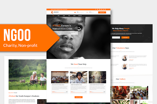 NGOO - Charity, Non-profit, and Fundraising Muse Template