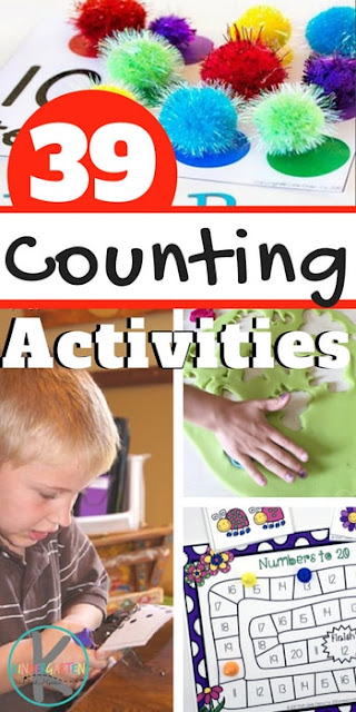 When it comes learning math, counting is one of the first skills kids should learn. There are lots of ways to practice counting, but the best way to learn to count is with an engaging, hands on counting activity! Here are more than 39 Fun Counting activities for kids. These counting games are sure to help students learn this important math skill to improve math fluency. These counting ideas for kids are perfect for toddler, preschool, pre k, and kindergarten students.