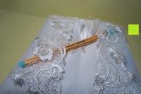 Taschen: Hochzeit Ringkissen mit Satin Bogen 21cm* 21cm