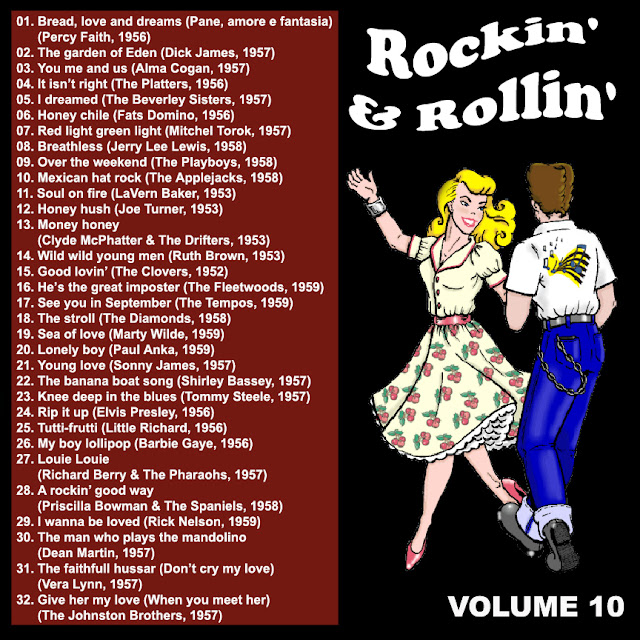 Cd collection Back To The 50's - Rockin' & Rollin' 10 Black