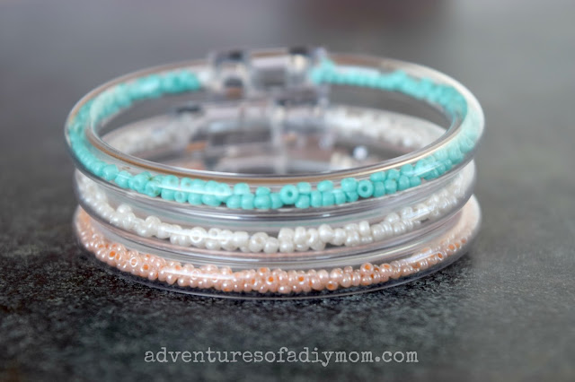 Clear Tube Seed Bead Bracelets