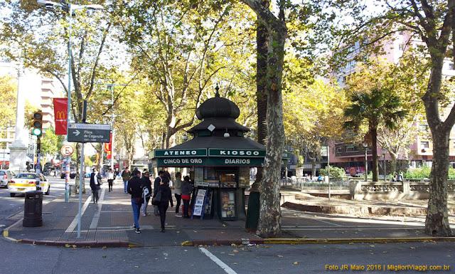 Plaza da Cagancha e Kiosko | Montevidéu