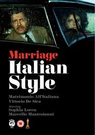Notes On Films Marriage And Divorce Italian Style Love Death Mastroianni And Sophia Loren