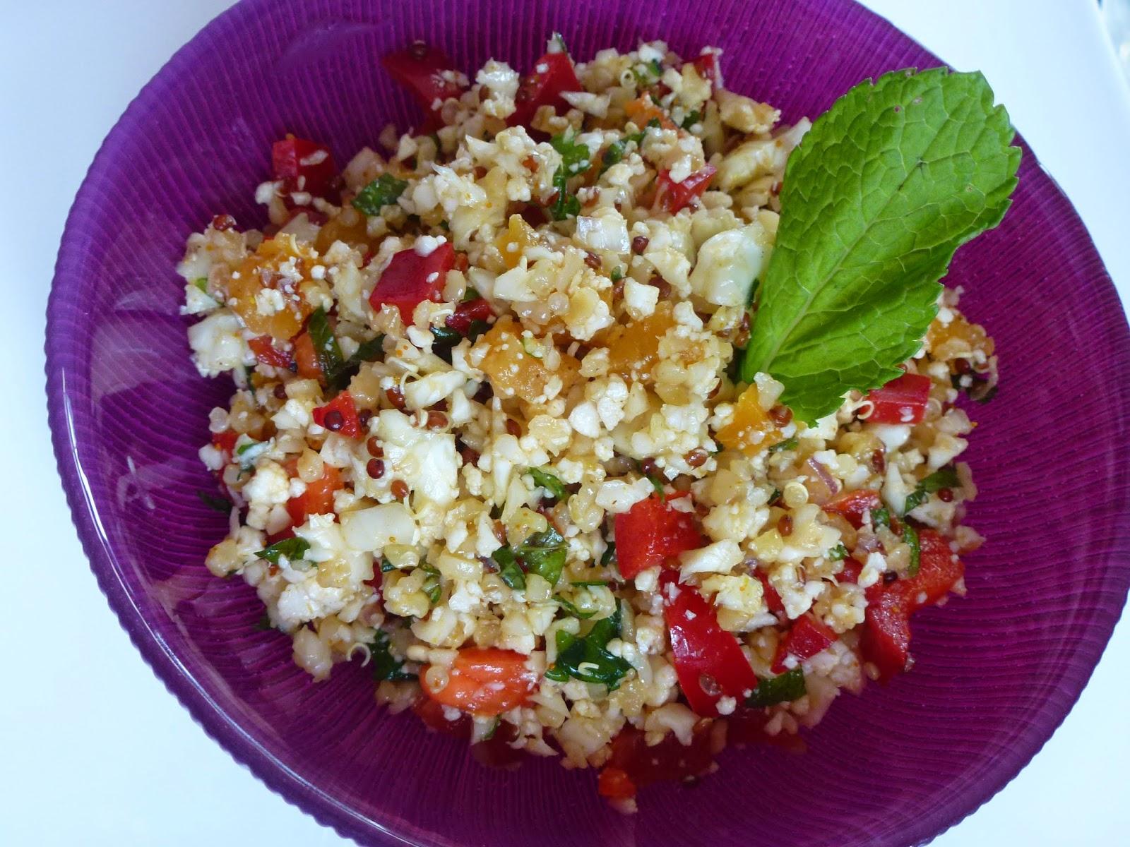 taboulé de choux fleur et quinoa   hélène et les gourmandises