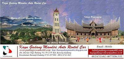 Rental Mobil Padang, Paket Tour Wisata Padang Bukittinggi Minangkabau Sumatera Barat