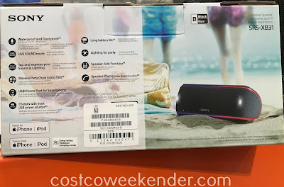 Costco 1141976 - Sony SRS-XB31 Wireless Speaker: great for parties or taking it on the go