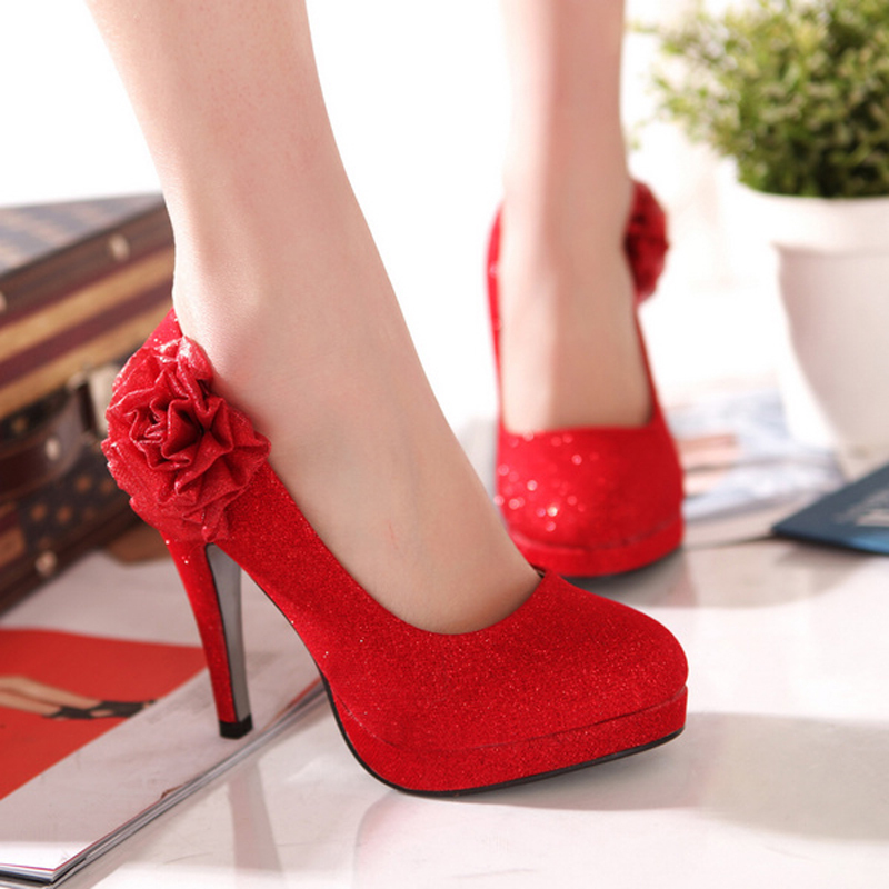 High Heel Enthusiast Red Wedding Shoes 5