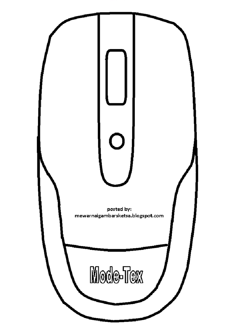 Mewarnai Gambar Mewarnai Gambar Sketsa Mouse Komputer 2