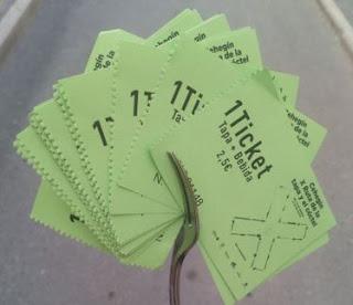 Los tickets de la Ruta de la Tapa y el Cóctel.