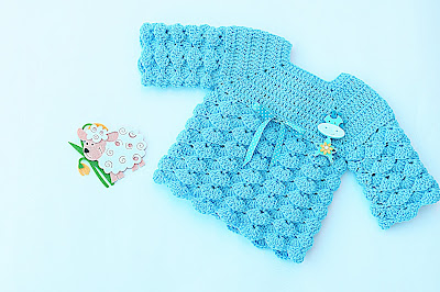 5 - Imagen chambrita de abanicos en relieve a crochet. Majovel crochet