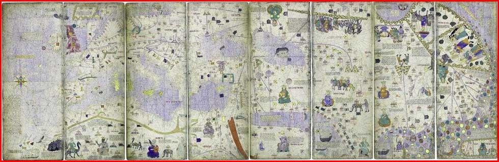 Gambar Peta Dunia Tahun 1375