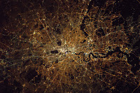 London at Night from Space