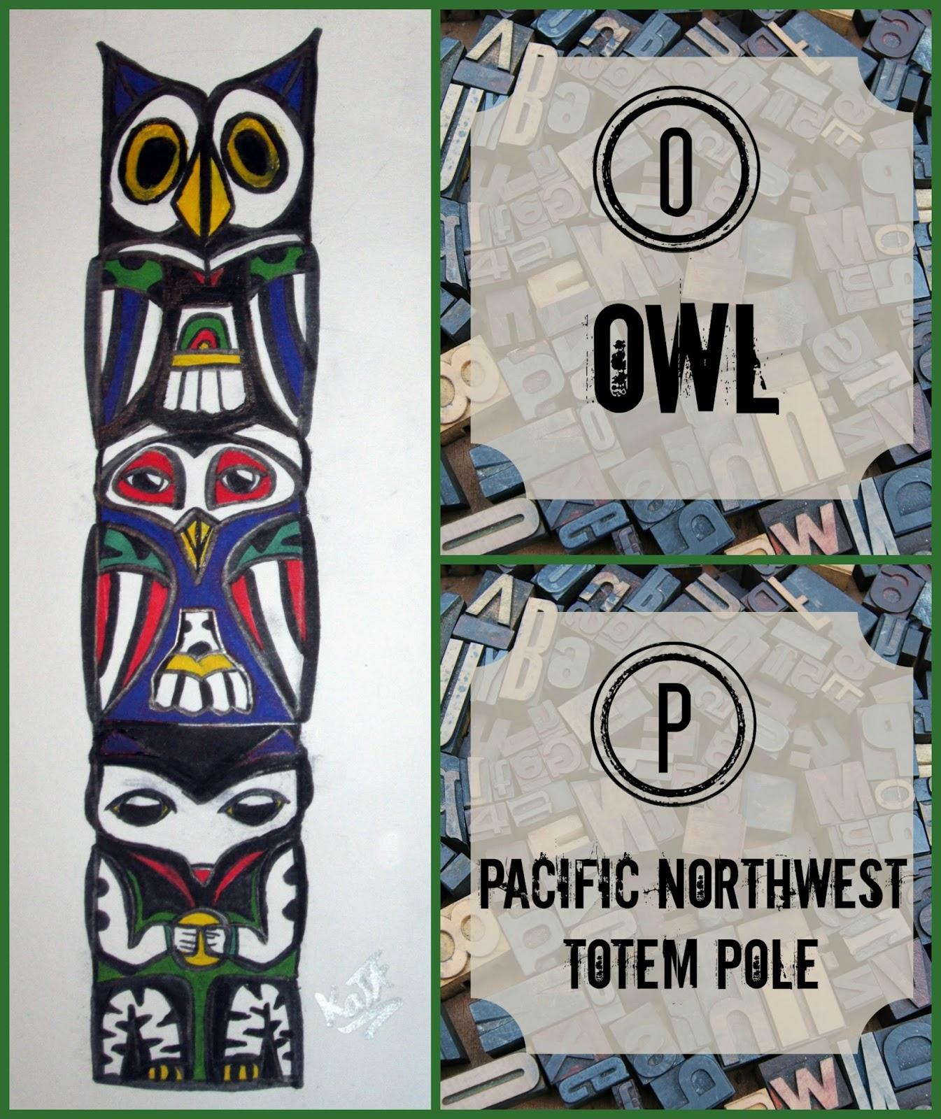 homeschool coffee break owl on a pacific northwest totem pole