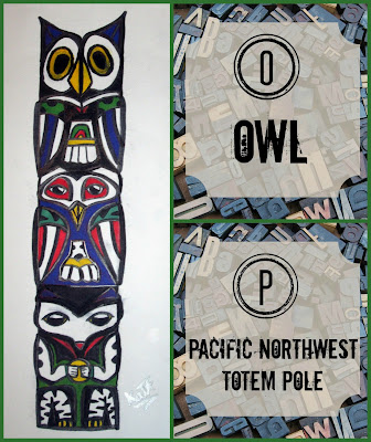 Owl on a Pacific Northwest Totem Pole - Blogging Through the Alphabet on Homeschool Coffee Break @ kympossibleblog.blogspot.com