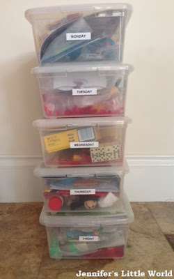 After school busy boxes for children