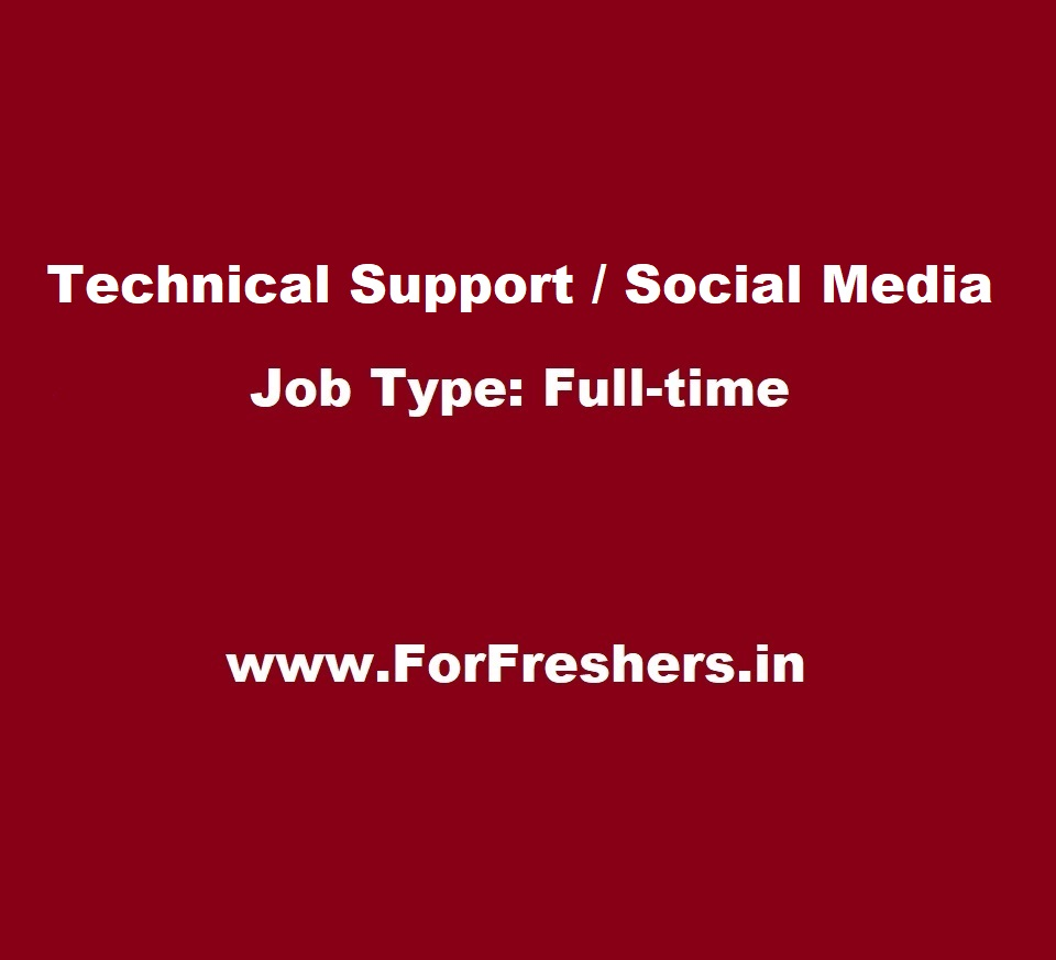 Technical Support Engineer / Social Media / Non Voice / Freshers ...
