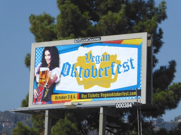 Vegan Oktoberfest 2015 billboard