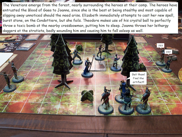 Nova Aetas board game painted play through mission 1.4 Ambushed!