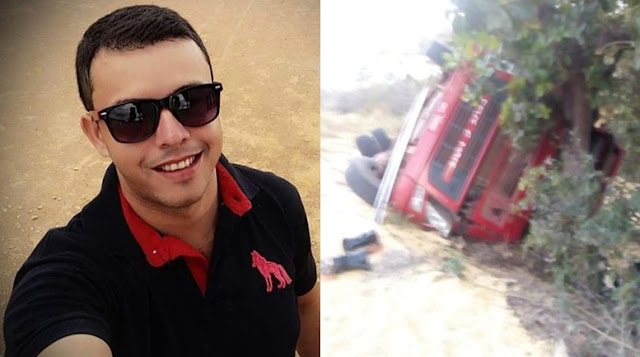 Caminhoneiro de Marcolândia-PI morre em grave acidente com carreta na cidade Uruçui-PI