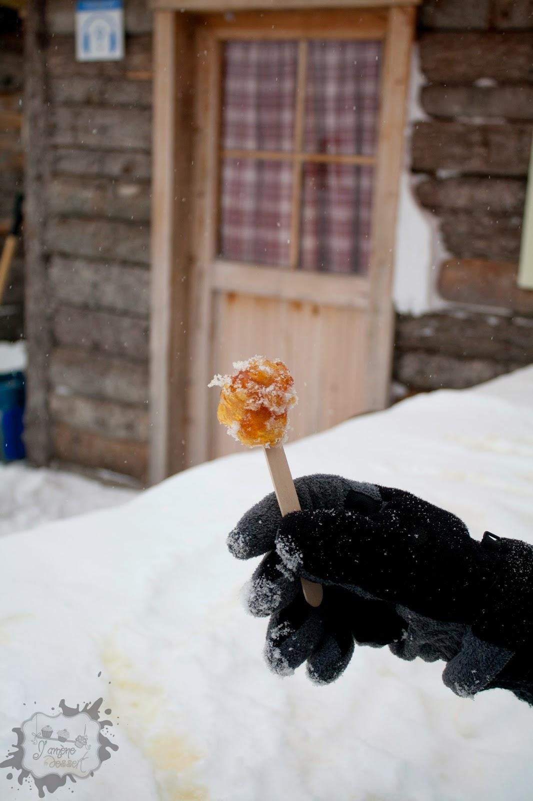 tire d'érable sur neige